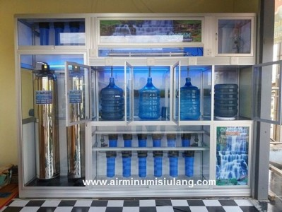 Air Isi Ulang Filter FRP lapis Stainless